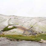 Glattgeschliffener Felsen auf dem Kjerag