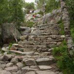 Hohe Stufen auf dem Weg zum Preiskestolen
