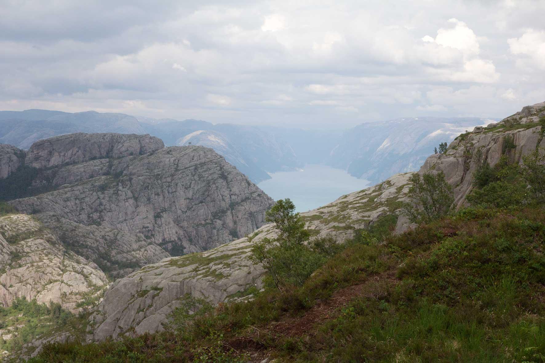 Lysefjord in Sicht