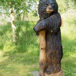 Holzfigur im Landa Park, Bär