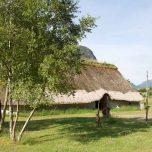 Prähistorisches Dorf in Landa Park, Campingplatz, Norwegen, Wikinger