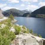 Straße am Fjord