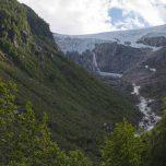Buarbreen in Sicht, Folgefonna, Gletscher bei Odda