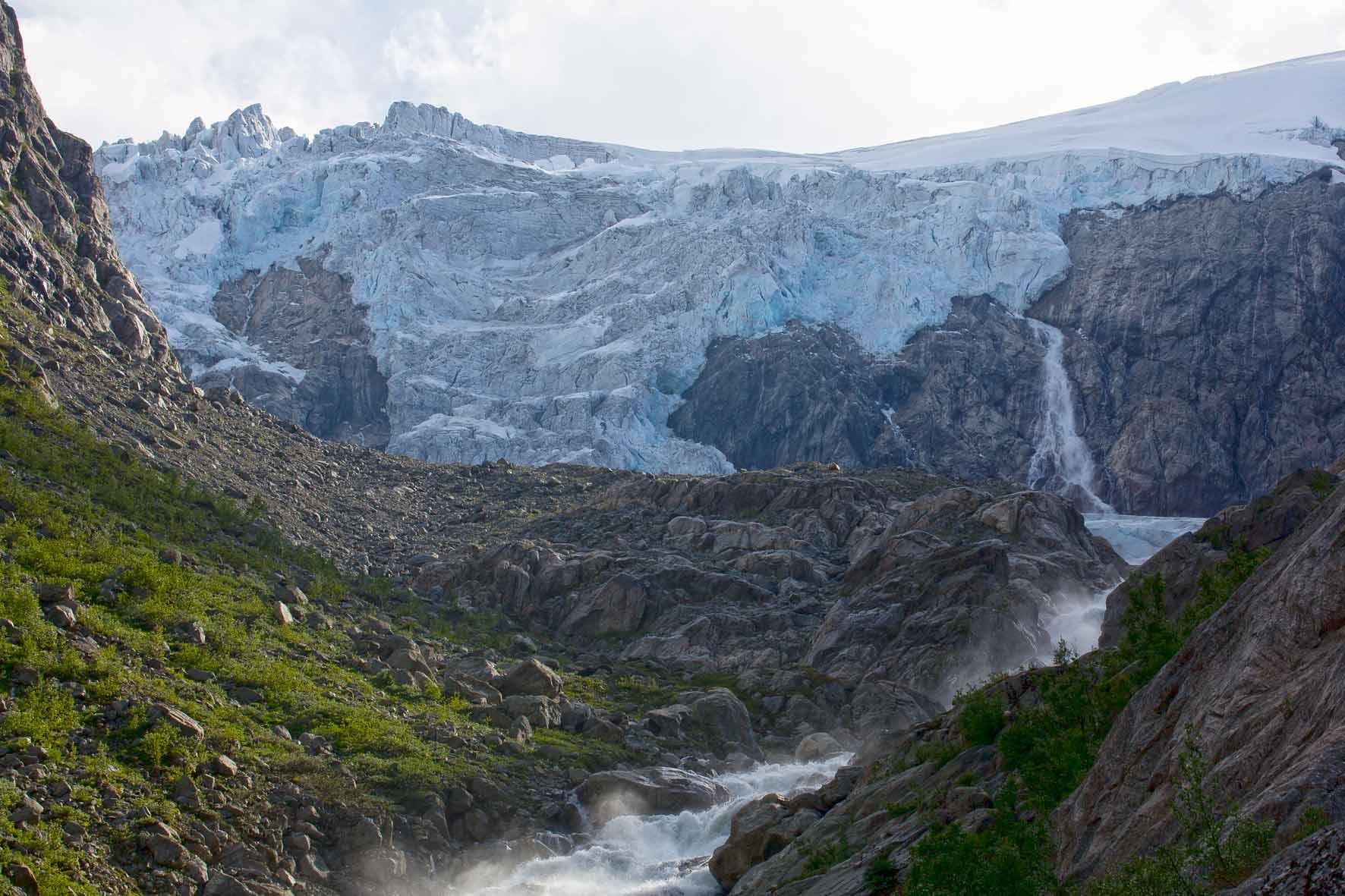 Buarbreen, Buerbreen, Folgefonna, Gletscher bei Odda, Norwegen