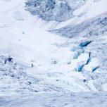 Blaues Eis am Buarbreen, Buerbreen, Folgefonna, Gletscher bei Odda, Norwegen