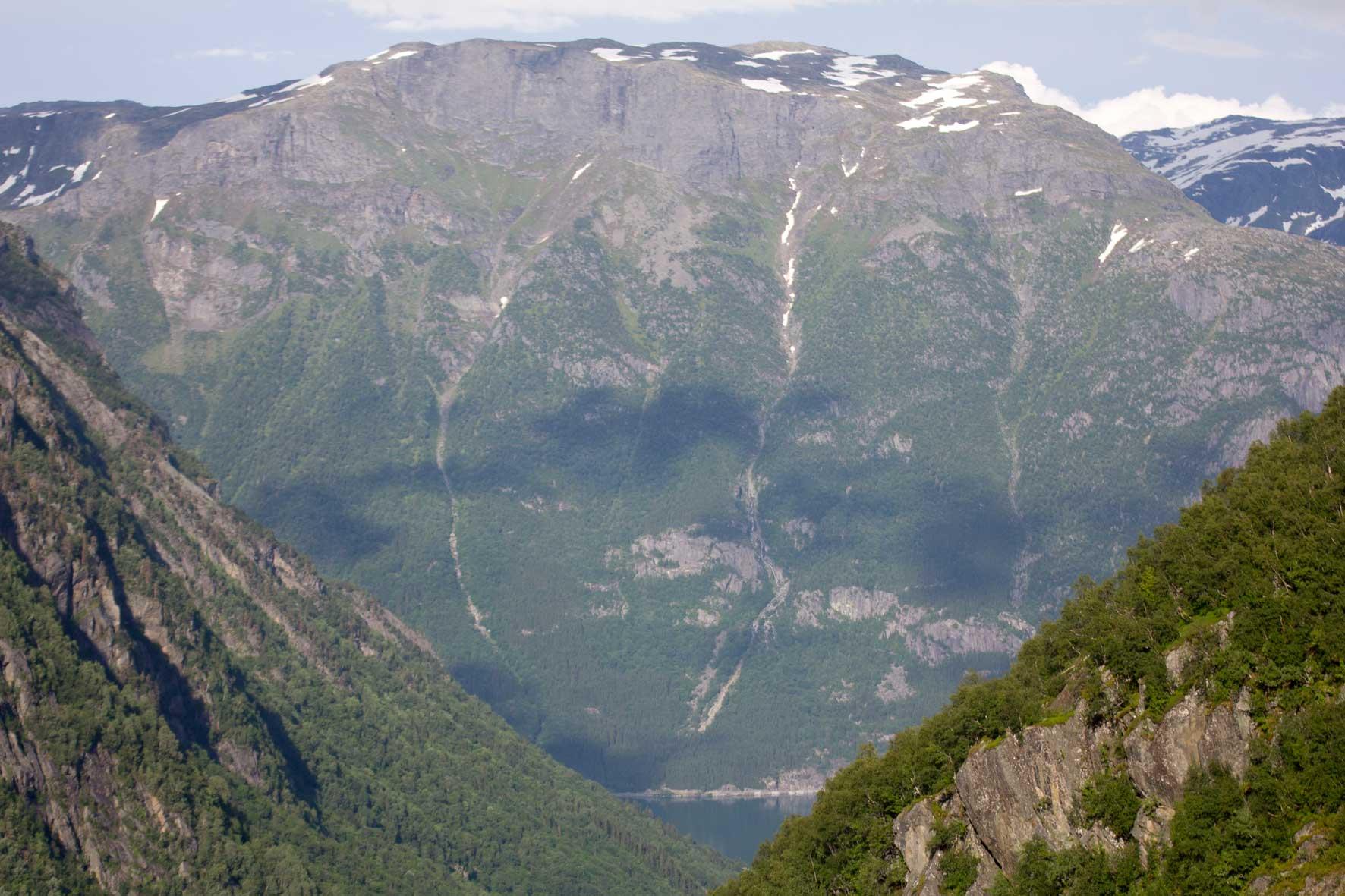 Blick zurück ins Tal am Buarbreen, Buerbreen, Folgefonna