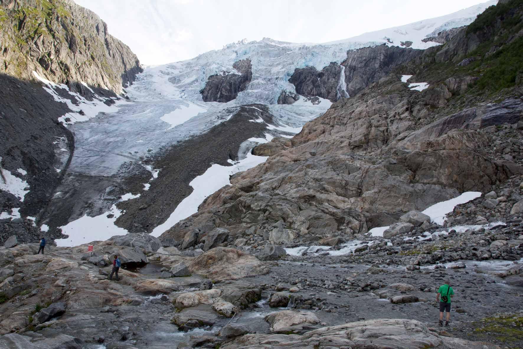 Am Buarbreen, Buerbreen, Folgefonna, Gletscher bei Odda, Norwegen
