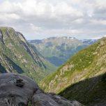 Blick vom Buarbreen zurück ins Tal, Folgefonna