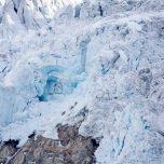 Blaues Eis des Buarbreens in der Sonne, Buerbreen, Folgefonna, Gletscher bei Odda, Norwegen