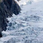 Blaues Eis Buarbreen, Buerbreen, Folgefonna, Gletscher bei Odda, Norwegen