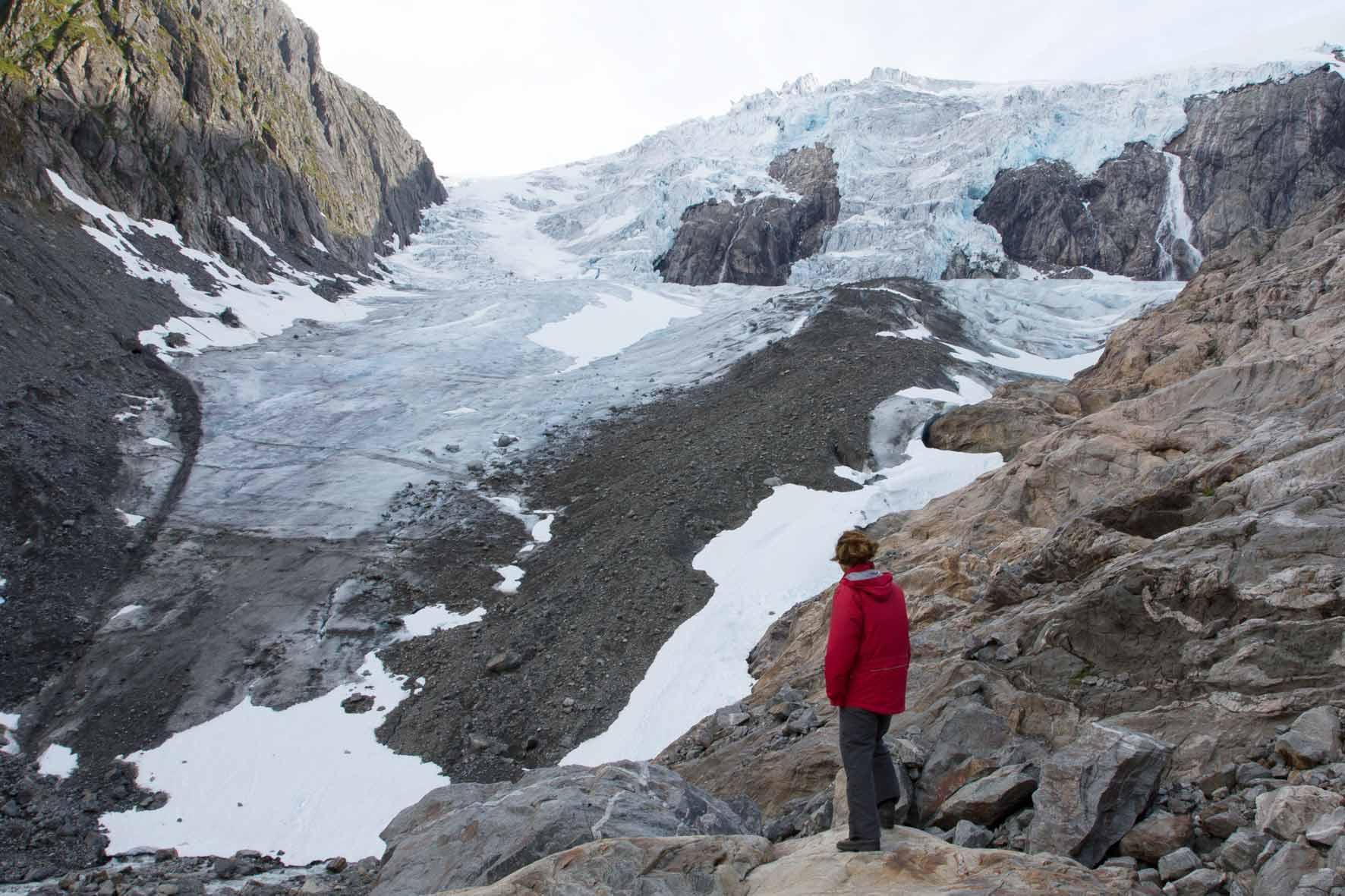Am Buarbreen bei Odda. Buerbreen, Folgefonna, Gletscher bei Odda, Norwegen