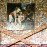 Stabkirche Røldal Rosenmalerei