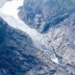 Erster Gletscherblick Bondhusbreen