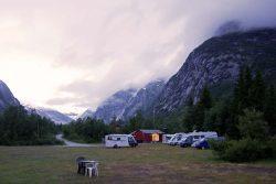 Campingplatz mit Gletscherblick Nigardsbreen
