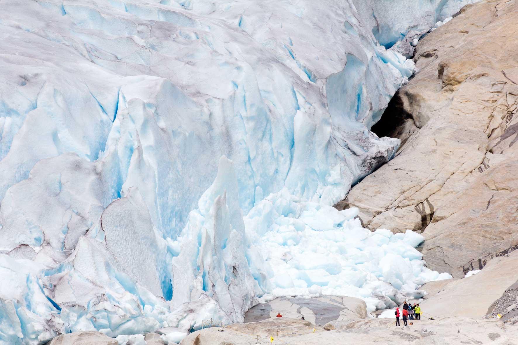 Menschen Gletscher Nigardsbreen