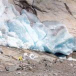Absperrrung am Gletscher