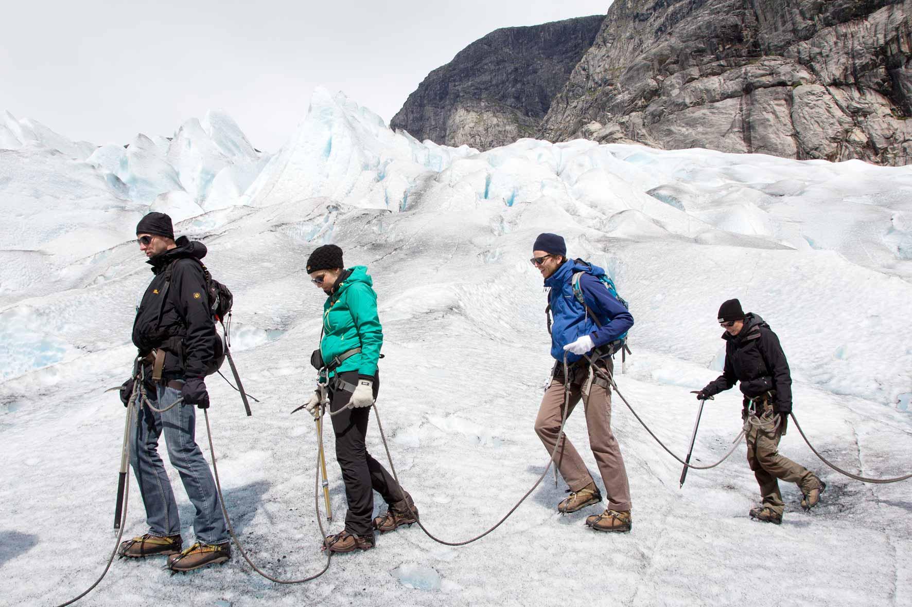 Auf dem Gletscher Nigardsbreen