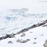 Eis auf dem Gletschersee Styggevatne
