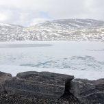 Vereister Gletschersee Styggevatne
