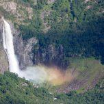 Wasserfall Feigumfossen Regenbogen