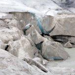 Schmutziges Gletschereis