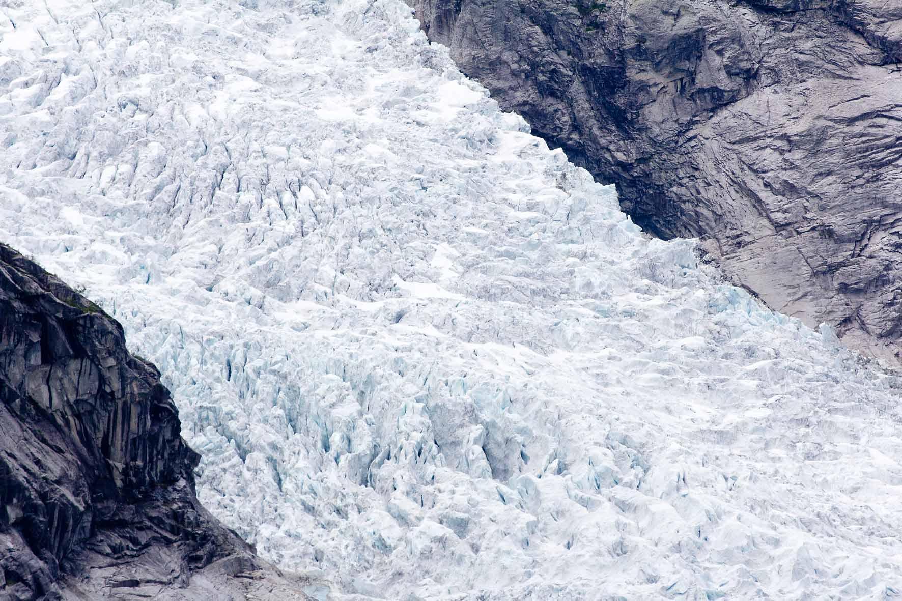 Zerklüfteter Eis am Jostedalsbreen