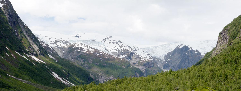 Gletscherpanorama am Jostedalsbreen