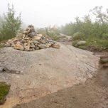 Steinhaufen Wegmarkierung