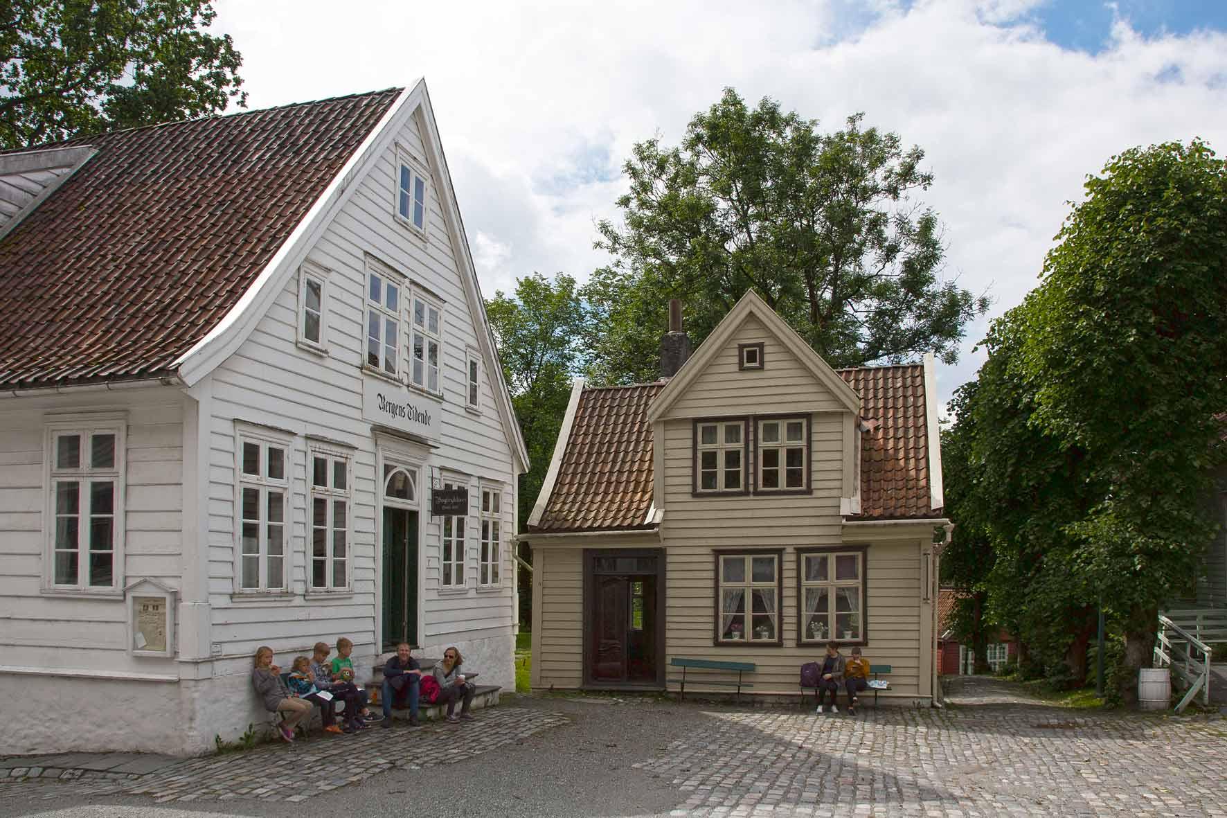 """Zeitungsredaktion der """"Bergen Tidende"""" (Bergens Journal) & Buchdruckerei"""