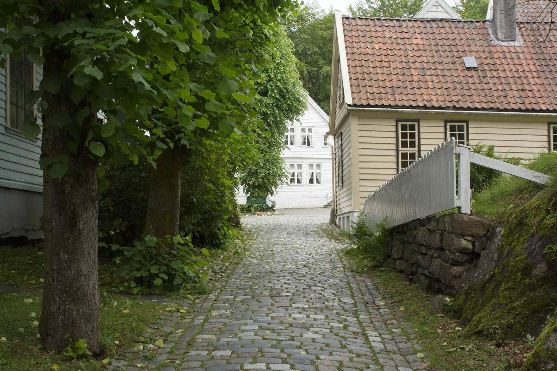 Gasse in Gamle Bergen